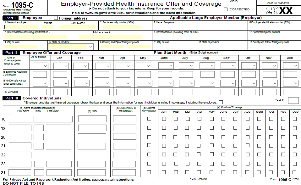 1095 sample form