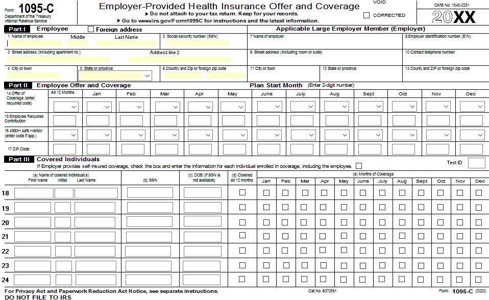 1095 sample form