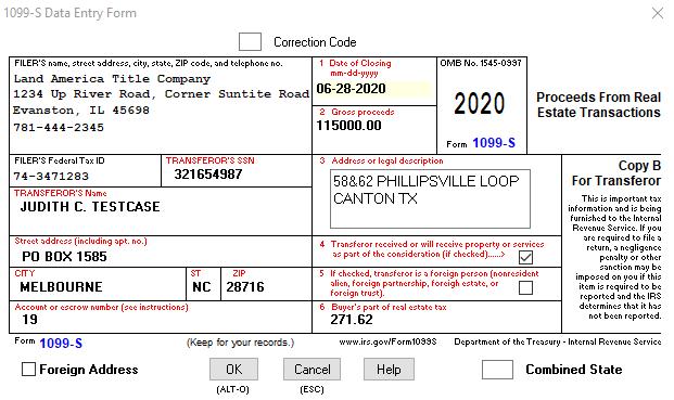 1099-S Example
