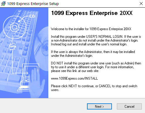 1099Express Installation Wizard